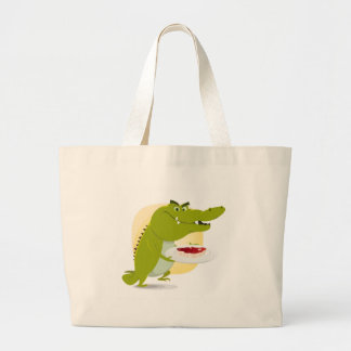Ensemble de crocodile de bande dessinée sacs de toile