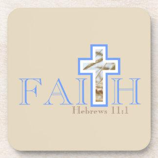 Ensemble de dessous de verre de foi