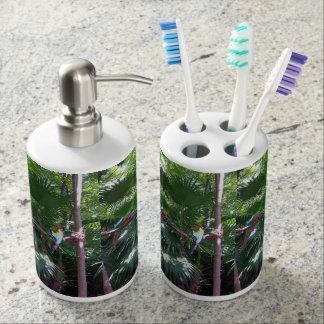 Ensemble de distributeur de support et de savon de porte brosse à dents