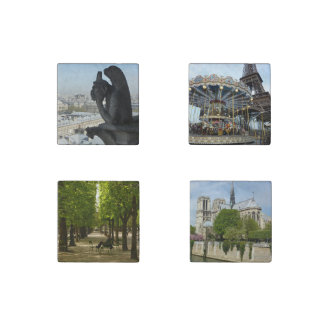 Ensemble de Paris Magnet En Pierre