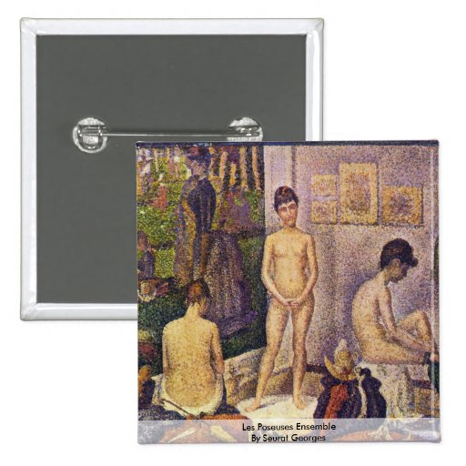 Ensemble de Poseuses de Les par Seurat Georges Badges