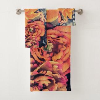 Ensemble de serviette de Bath de fleurs d'automne