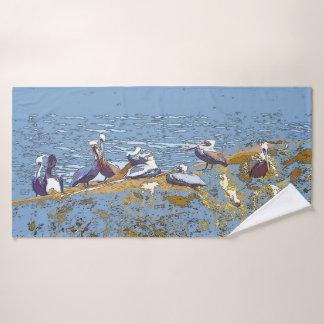Ensemble de serviette de Bath de mer d'animaux de
