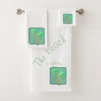 Ensemble de serviette de palmier