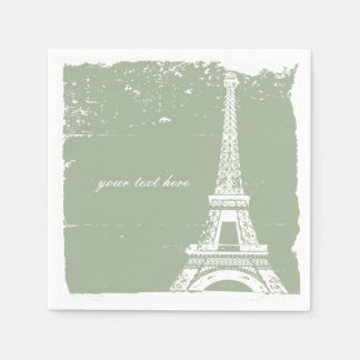 Ensemble de serviette de papier de Tour Eiffel de Serviette Jetable