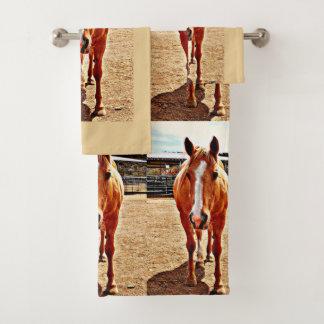 Ensemble de serviette de salle de bains de cheval