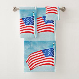 Ensemble de serviette de salle de bains de drapeau