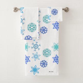 Ensemble de serviette de salle de bains de motif