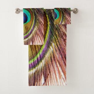 Ensemble de serviette de salle de bains des plumes