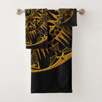 Ensemble de serviette de salle de bains du Natif