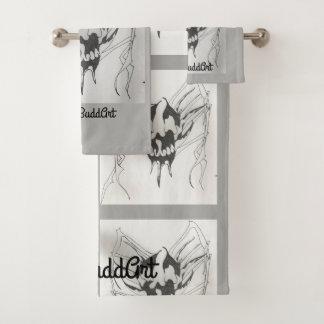 Ensemble de serviette de salle de bains, gris