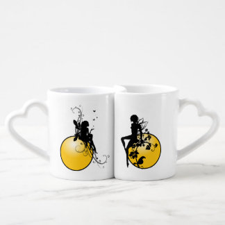Ensemble de tasse de café du coeur des amants