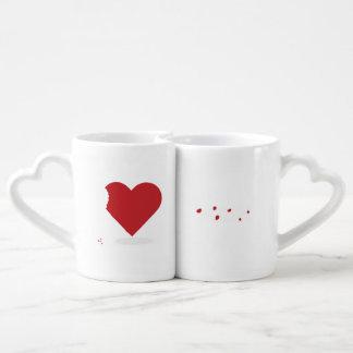 Ensemble de tasse de morsure d'amour