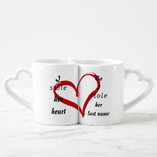 Ensemble de tasses d'amour