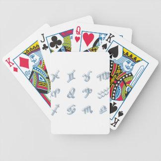 Ensemble d'icône d'horoscope de zodiaque jeux de cartes