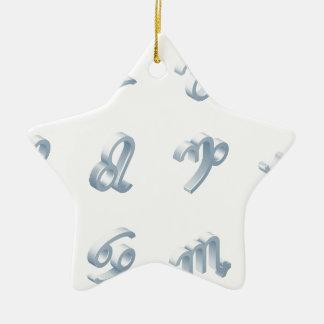 Ensemble d'icône d'horoscope de zodiaque ornement étoile en céramique