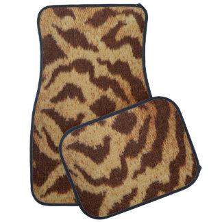 Ensemble d'impression de tigre de 4 tapis de tapis de voiture