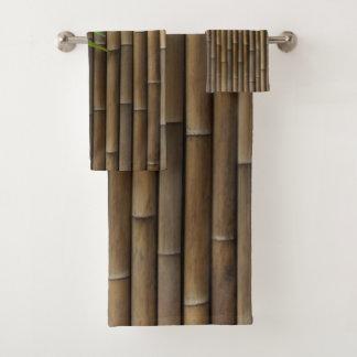 Ensemble en bambou de serviette de salle de bains