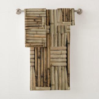 Ensemble en bambou tropical de serviette de salle