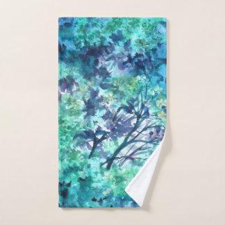 Ensemble floral bleu de serviette