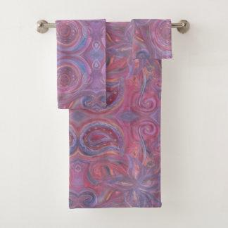 ensemble floral de serviette de peinture de