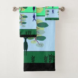 Ensemble frais de serviette de vert de cerfs
