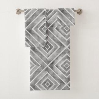 Ensemble géométrique de serviette de bain