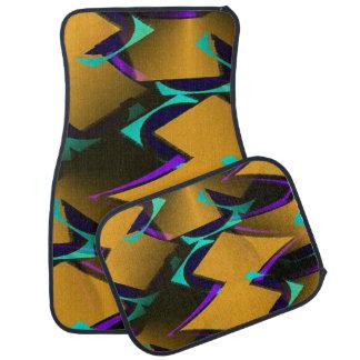 Ensemble géométrique élégant de résumé de 4 tapis