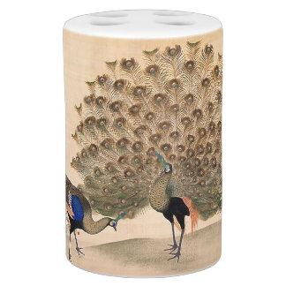 Ensemble japonais de Bath d'animaux d'oiseaux de Sets De Salle De Bain