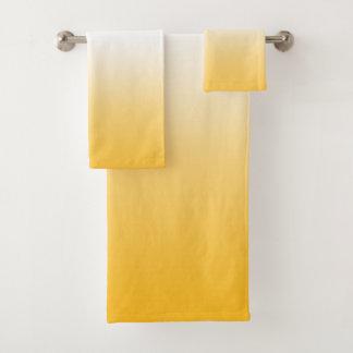 Ensemble jaune de serviette de Bath de couleur de