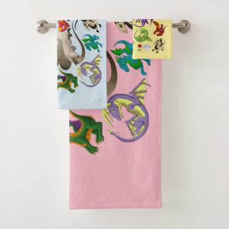 Ensemble magique de serviette de salle de bains de