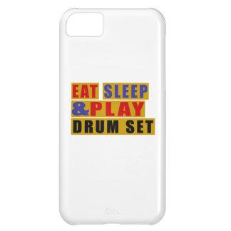 ENSEMBLE mangez de sommeil et de jeu TAMBOUR Coque iPhone 5C