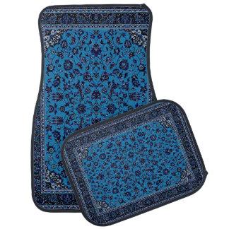 Ensemble oriental bleu de tapis de voiture de rega