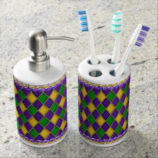 Ensemble orienté de support de savon et de brosse  accessoires de salle de bains