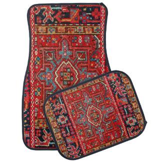 Ensemble persan de conception de couverture de 4 tapis de sol