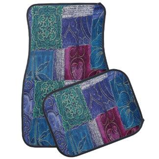 Ensemble pourpre bleu de patchwork d'Aqua de tapis