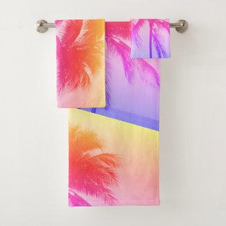 Ensemble tropical de serviette de salle de bains