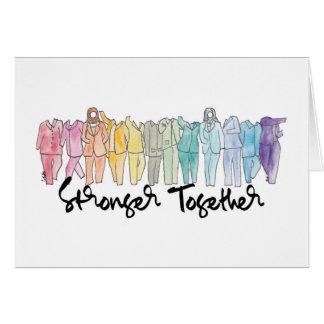 Ensemble une carte de voeux plus forte