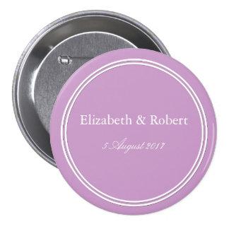 Ensemble violet en pastel crayeux de décoration de badges