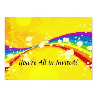 Ensemble voyant jaune d'arc-en-ciel carton d'invitation  12,7 cm x 17,78 cm