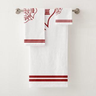 ensembles de serviettes de bain avec la croix