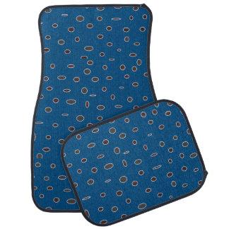 Ensembles de tapis de voiture de brun bleu de poin