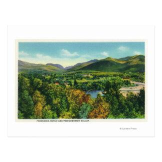 Entaille de Franconcia et vallée de Pemigewasset Carte Postale