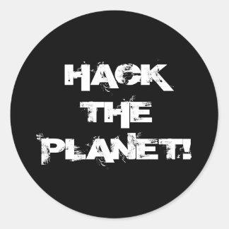 Entaillez l'autocollant de planète sticker rond