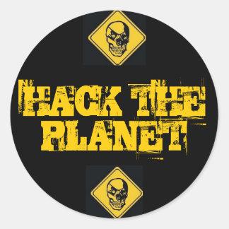 Entaillez les autocollants de planète