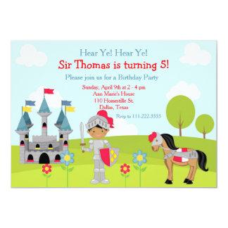 Entendez la fête d'anniversaire de chevalier carton d'invitation  12,7 cm x 17,78 cm