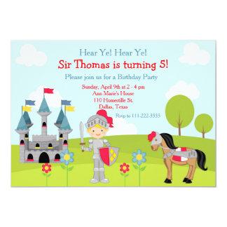 Entendez la fête d'anniversaire mignonne blonde de carton d'invitation  12,7 cm x 17,78 cm