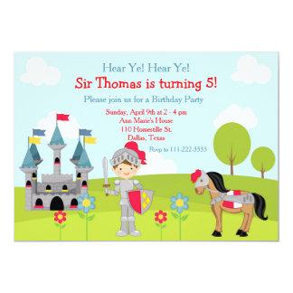 Entendez la fête d'anniversaire mignonne de carton d'invitation  12,7 cm x 17,78 cm