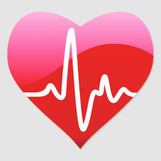 Entendez le battement sticker cœur