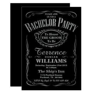 Enterrement de vie de jeune garçon argenté carton d'invitation  12,7 cm x 17,78 cm